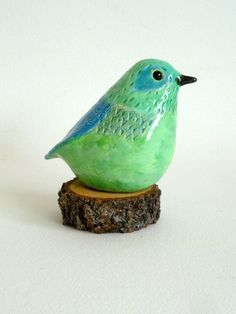 pottery bird sculpture