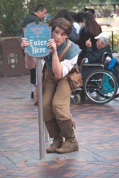 Flynn Rider, still running from the law ; Disney Nerd, Disney Trips, Disney Love, Disney Magic, Disney And Dreamworks, Disney Pixar, Walt Disney, Disneyland Images, Rapunzel And Eugene