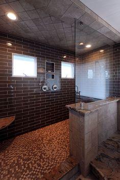 Walk in Shower design by #OlamarInteriors
