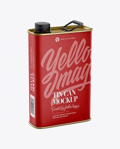 Matte Tin Can Mockup – Half Side View