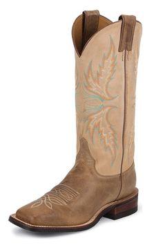 Justin Arizona Mocha Cowgirl Boots