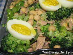 Temperos da Iza: Salada de Grão, Atum, Brócolos e Ovo Eggs, Breakfast, Grain Salad, Morning Coffee, Egg, Egg As Food