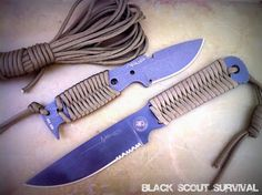 Black Scout Survival: Black Scout Tutorials - Wrapping a Paracord Knife Handle