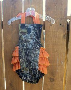 Baby Girl Hunter Mossy Oak Camouflage Camo by fancypantsbyjamee, $26.00