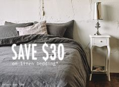 Get your perfect 100% linen bedding today. Spend and save generously! 10% off