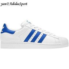 promo code 139fb bbfe2 Adidas Originals Superstar 2 Zapatillas de Cuero para Hombre Blanco Azul  Real Baratas