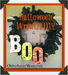 Cute DIY Halloween wreath