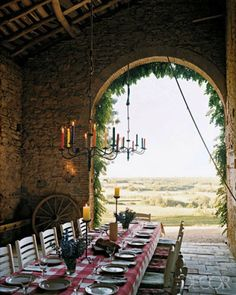 Old stone barn in France - add wine...perfect!