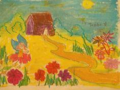 #flowerfairy #oilpastelart #grade2 https://www.facebook.com/DoodlersAndScribblers