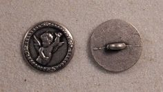 "Set of 6 JHB Intl Round Pewter Metal Buttons Cherub Angel 11/16"" or 18 mm lyk0035 #JHB #buttonlovers"
