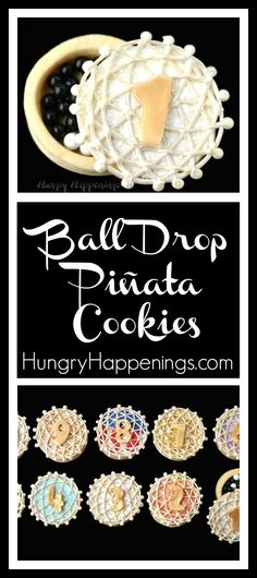 The countdown to the New Year begins at 11:59:50 p.m. on December 31st and this year you can celebrate this special occasion by cracking open some Ball Drop Piñata Cookies.