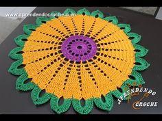 Toalha de Crochê Primavera - Aprendendo Crochê