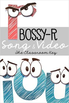 FREE Bossy R song and video is a fun way to practice r controlled vowel phonics patterns