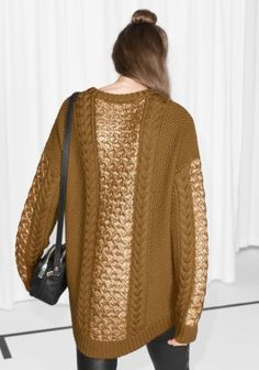 & Other Stories | Cable Knit Sweater