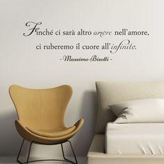 Adesivo a parete: frase di Massimo Bisotti