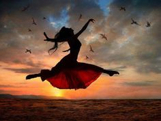 Photo about Dramatic image of a woman jumping above the ocean at sunset, silhouette. Image of ballet, jumping, drama - 7400329 Quotes Enjoy Life, Quote Life, Psalm 30, Isaiah 26, The Dancer, Fred Astaire, Lets Dance, Art Photography, Freelance Photography