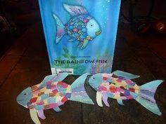 Mom to 2 Posh Lil Divas: Ocean Theme - Tissue Paper & Foil Rainbow Fish Craft Mama bis 2 Posh