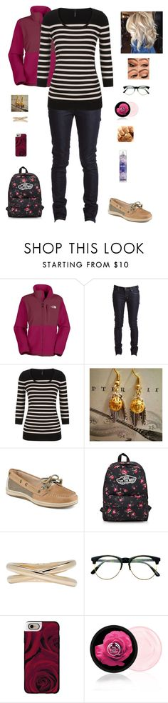 """""""Back 2 school - Billy Madison"""" by khaleezy ❤ liked on Polyvore featuring The North Face, Ksubi, maurices, Sperry, Vans, Maison Margiela, Retrò, Casetify and The Body Shop"""