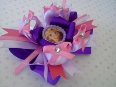 Rapunzel Hair Bow by SweetandCuteBows on Etsy, $9.00