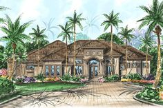 House Plan 1018-00066 - Mediterranean Plan: 3,287 Square Feet, 2-3 Bedrooms, 3.5 Bathrooms