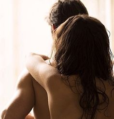 Surprising me, while I'm undressing by embracing me from behind, yourself naked. The sensation. The goosebumps. Your breasts lightly touching my back muscles. Your hand reaching down, past my torso...