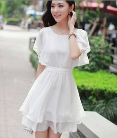 inspiration for someday :) корейское платье, коре Frock Fashion, Korean Fashion Dress, Asian Fashion, Girl Fashion, Fashion Dresses, Stylish Dresses, Casual Dresses, Short Dresses, Girls Dresses