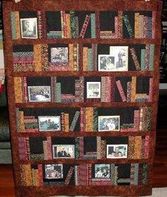 Bookshelf quilt found on http://californiagirlinoz.blogspot.com/2006/09/some-quilts.html