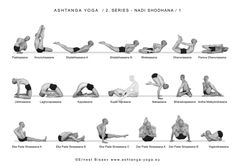 Ashtanga Nadi Shodhana (second series) up to Yoganidrasana Yoga Chart, Kapotasana, Increase Flexibility, Ashtanga Yoga, Yoga For Beginners, You Fitness, Namaste, Health Tips, Poses