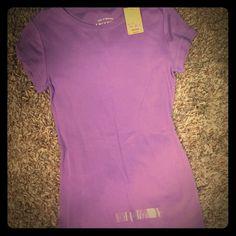 Plain purple tee Cotton tee never worn...brand new with tags Arizona Jean Company Tops Tees - Short Sleeve