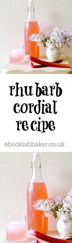 homemade rhubarb cordial recipe - extremely delicious and versatile. Make in spring and serve with still or sparkling water or with a cheeky prosecco. Perfect cocktail. http://abookishbaker.co.uk/