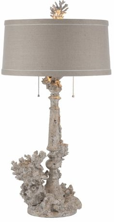 Great coral rustic lamp that brings the sea life in through illumination