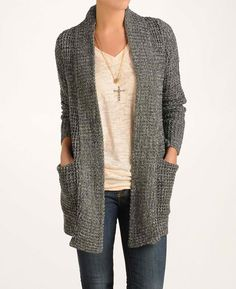 Line for South Moon Under 'Esteemed' Marled Cardigan Sweater