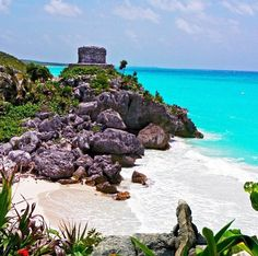 Tulum, Mexico one of the most beautiful places I've been to. Thanks to my cousin Julie. The blue lagoon!