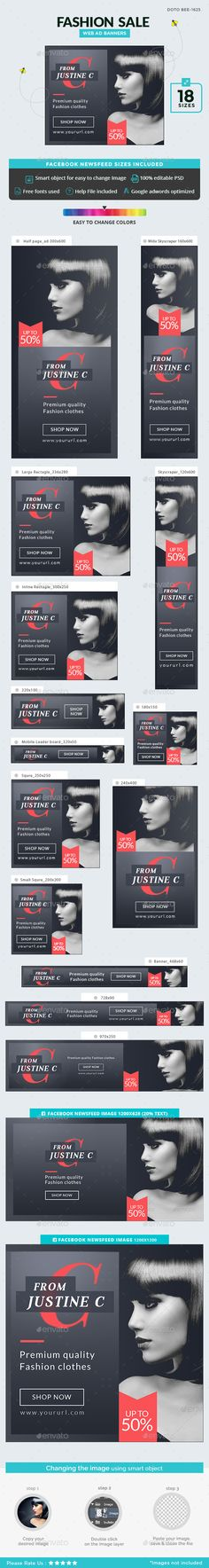 Fashion Sale Banners Template PSD. Download here: https://graphicriver.net/item/fashion-sale-banners/17442954?ref=ksioks