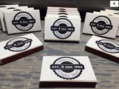 Custom Retro Cigar Bar Match Boxes -25 boxes with FREE CUSTOMIZATION