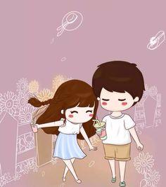 Love Cartoon Couple, Chibi Couple, Love Couple, Cute Girl Wallpaper, Emoji Wallpaper, Photo Frame Design, Cute Couple Drawings, Diy Clothes Videos, Cartoons Love