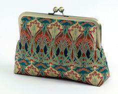 Cosmetic bag, Art Nouveau, Ikat, Liberty of London Print clutch,Makeup bag, Geometric clutch, Party clutch, Formal purse, Bridesmaids gift, on Etsy, $68.52 CAD