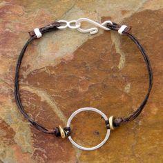 (http://www.elizabethplumbjewelry.com/textured-circle-linen-bracelet/)