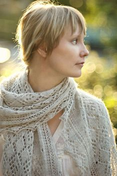 Celes Shetland Lace Stole: So light and airy!