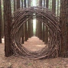mondtor-aus-naturholz-natural-wood-moon-gate-mondtor-naturholz-this-imag/ - The world's most private search engine Land Art, Dream Garden, Garden Art, Garden Poems, Garden Drawing, Herb Garden, Garden Plants, Art Et Nature, Nature Artwork