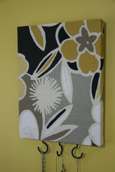 Yellow and gray jewelry hooks for bathroom? $21.00