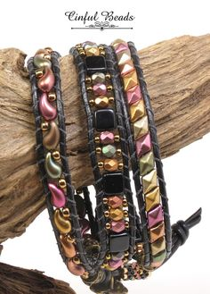 Leather Jewelry Making, Leather Bracelets, Leather Cord, Bead Jewelry, Jewelry Bracelets, Jewelry Design, Beadwork, Beading, Chan Luu