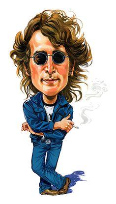John Lennon ....artwork by ExaggerArt http://exagger-art.artistwebsites.com/