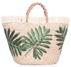Water hyacinth and raffia Planta basket with braided leather handles