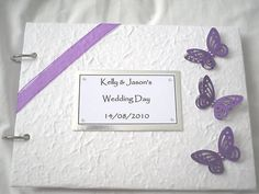 3D BUTTERFLY WEDDING GUEST BOOK / PHOTO ALBUM BIRTHDAY