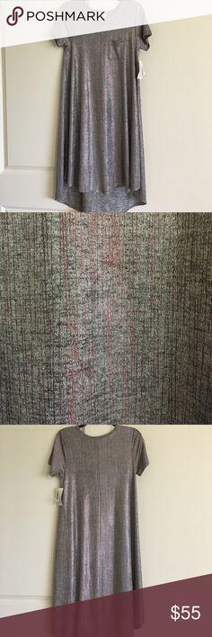 LuLaRoe Carly XXS Elegant Collection  NWT! NWT LuLaRoe Carly XXS from the Elegant Collection. Brand New! Gray, Copper with Black streaks So Beautiful! LuLaRoe Dresses High Low