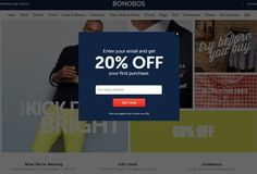 Example of a very clear use of pop-ups. It illustrate how pop-ups are a powerful marketing tool.