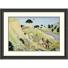 Global Gallery 'Illustration to the Ramayana' by Tehri-Garwhal Framed Painting Print Size: 2
