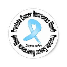 Prostate  Cancer Awareness Month Ribbon Classic Round Sticker