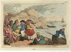 Nap Dreading his Doleful Doom or His Grand Entry in the Isle of Elba. Cartoon by Thomas Rowlandson, published April 25, 1814